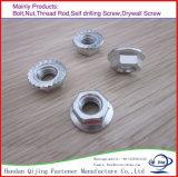 Boulon Hex de haute résistance de demi d'amorçage DIN931 galvanisé blanc