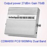 De volledige Intelligente Dubbele Repeater van het Signaal van de Band 850/1900MHz/Spanningsverhoger/Versterker 2g 3G 4G