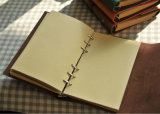 PU Leather Refillable Sketch Notebook con Rubber Band y Paper Gift Box (SDB-0139)