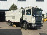 JAC 6 Vrachtwagen van het Bereik van de Weg van het Voertuig van de Veger van Wielen LHD de Vacuüm4X2