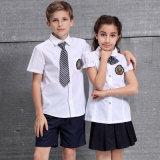 Gosses chemise et uniforme scolaire de jupe, chemises de blanc d'uniforme scolaire