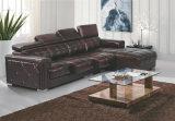 Sofa de cuir de modèle neuf, Recliner moderne L sofa de forme (GB01)