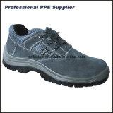 Zapatos protectores de acero de la placa de acero de la punta del cuero genuino
