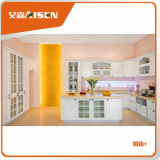 De aangepaste Kleine Keukenkasten van het Membraan van pvc/Kast