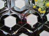 Mosaico de cristal blanco de la mezcla inoxidable negra de Sreel (CFM1027)