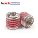 アルミニウム軽合金のために細長い穴がつくScrewlocking外部糸の挿入ナット