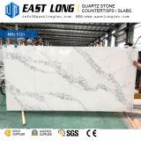 Polished камень кварца для Countertop/проектированный/строительный материал с твердой поверхностью (Calacatta/белым камнем)