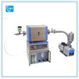 Mini forno a camera di CVD con il miscelatore del gas delle 2 Manica, il pulsometro ed il calibro di vuoto - Otf-1200X-S50-2f