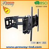 Doppelarm-Neigung und Schwenker freitragender einziehbarer Fernsehapparat-Halter für Flachbildschirm-Fernsehapparate
