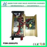UPS 2000Wの充電器(PSW-2000UPS)が付いている純粋な正弦波の太陽エネルギーインバーター