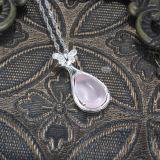 Ожерелье естественной кристаллический бабочки стерлингового серебра женщин 925 привесное с цепью