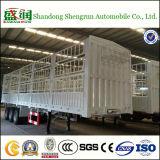 3개의 차축 반 높은 침대 담 말뚝 평상형 트레일러 측벽 화물 트레일러