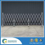 Glissière de sécurité extensible de frontière de sécurité provisoire en aluminium