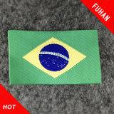 Etiket van Diverse Stijl van de Toebehoren van het kledingstuk het Kleine Vlag Geweven