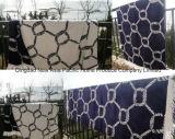100%년 면 아름다운 패턴 털실에 의하여 염색되는 자카드 직물 벨루어 비치 타올