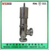 Válvula de seguridad de seguridad higiénica sanitaria Ss304 de acero inoxidable de 25,4 mm