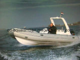 Aqualand 19feet 5.8m Rib Motor Boat 또는 Rigid Inflatable Fishing Boat (RIB580S)