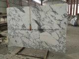 Bianco標準的な大理石のArabascataの白い石造りの大理石の平板およびタイル