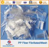 Волокно PP бленды закрутки Undee волны моноволокна Fibrillated сеткой гибридное