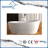 목욕탕 타원형 단단한 지상 독립 구조로 서있는 욕조 (AB6590)