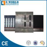 Máquina de lavar de vidro vertical. Equipamento de vidro vertical da arruela