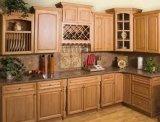 Gabinete de cozinha da madeira contínua (olmo)