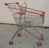 Het chroom Geplateerd Boodschappenwagentje van de Kruidenierswinkel/het Winkelen van de Draad Karretje