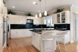 Gabinete de cozinha lustroso elevado do revestimento da pintura do projeto 2017 novo