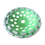 Двойным поделенный на сегменты рядком абразивный диск чашки диаманта для мрамора гранита