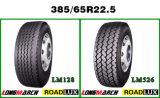 Gekennzeichneter neue Gummigummireifen-Schrott-Gummireifen-Kunden-Radialförderwagen-Gummireifen 385 65 22.5
