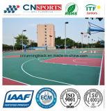 Het groene Materiële Binnen/OpenluchtHof van het Basketbal voor de Oppervlakte van de Sport