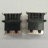 Weibchen Stapel USB-2.0 90 Grad BAD Schwarzes