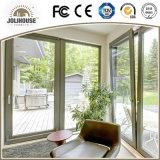 Porta de vidro plástica da fibra de vidro barata barata UPVC do preço da fábrica com grade para dentro para a venda