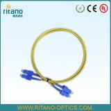Sc MP OS1 duplex FTTH Patchcord dell'interno di fibra ottica