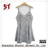Nach Maß elegantes Kleid-Sleeveless Riemen-Dame Short Dress