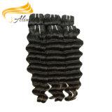 Remyの人間の毛髪の波状の加工されていない卸し売りモンゴルのバージンの毛