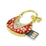 USB di cristallo Pendrive dei monili del disco istantaneo del USB della borsa del metallo
