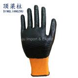 13G de gestreepte Handschoen van het Werk van de Veiligheid van de Polyester van Strepen met Met een laag bedekt Nitril