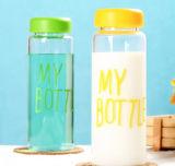 Bottiglia di acqua multicolore di vetro di Borosilicate di disegno di modo