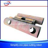 Machine de découpage ronde simple de pipe pour la pipe de fer de tube de cuivre