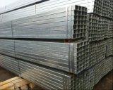 El material de construcción Q195 Q235 ERW soldó el tubo de acero/el tubo cuadrados Pre-Galvanizados