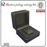 Caja de embalaje de empaquetado de la visualización del regalo del embalaje del reloj del caso del almacenaje del reloj del papel de cuero del terciopelo del rectángulo del reloj de madera (YS93)