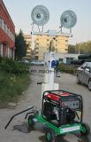 Kiporのディーゼル発電機は手で押す販売(FZM-1000A)のための移動式軽いタワーを
