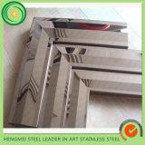 ドアの装飾のための304ステンレス鋼ミラーフレームを構築する構築