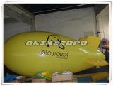 Premier dirigeable d'hélium de couleur de jaune de métier avec des impressions personnalisées