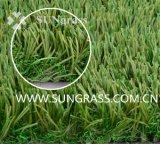herbe artificielle d'horizontal de fibre de Thionlon de hauteur de 40mm (SUNQ-AL00073)