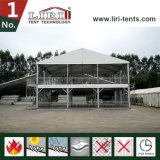 Tenda del doppio ponte, tenda di due piani con la parete di vetro, tenda foranea di due piani per gli eventi di golf