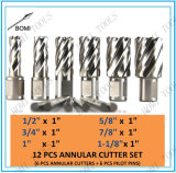 Conjunto anular del cortador del acero de alta velocidad