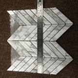 Venato Carrara 모자이크 타일, 헤링본 대리석 마루 도와