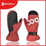 Nuevo guante Heated de la manopla del mitón del esquí de la prueba de la nieve de Desing para el cuero de la PU